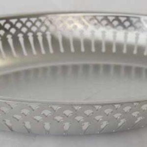 Corbeille à pain en métal Argenté - loca-vaisselle Location de vaisselle - matériel de réception